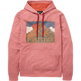Marmot Mountain Peaks Sudadera Capucha Hombre, rojo